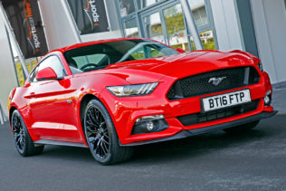 Mustang V8 for hire from Sportshire