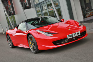 Ferrari 458 for hire from Sportscarhire, West Midlands