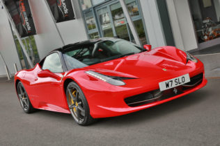 Ferrari 458 sports car hire